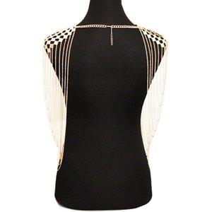 Huang Neeky #401 2018 NEW FASHION Simple Body Bikini Nightclub Sexy DJ Tassel Chain One Size Princess Gold Alloy Drop Shipping