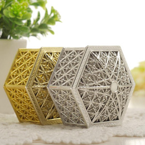 Gift Wrap Wedding Party Favor Hollow Gold Silver Box Creative Plastic Candy Vintage Boxes Chocolate Treat