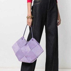 Minority frosted suede leather women's bag design woven geometric cowhide bag one shoulder handbag purse