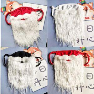 Party Masks Santa Claus Beard Halloween Funny beards White Christmas moustache Dust Proof Cotton Mask T9I001445