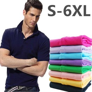 2021 Summer Casual Polo Shirt Men Short Sleeve Crocodile Embroidery Slim Fit Solid Color Polo Shirt for Men Clothing New Tops S-5XL