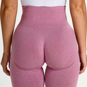 sexy women lulu leggingsHot selling seamless knitted hip warping moisture absorption and perspiration yoga pants, exercise fitness pants, se
