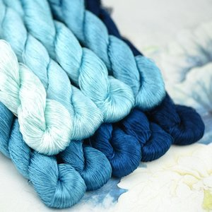 1pcs 400m silk embroidery thread   100% silk thread  hand embroidery embroider cross stitch Powder blue 9 pure colors