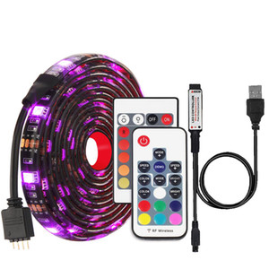 RGB LED Strip Waterproof DC 5V USB LED Light Tape Flexible Lighting 5050 0.5m 1m 2m with17 key 24key Remote For TV Backlight