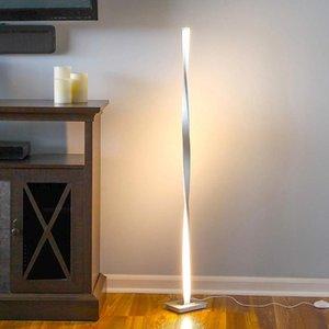 Modern Lampara de Pie Led Zemin Lambası Lampu Lantai Nordic Dekorasyon Ev Led Zemin Işık Yatak Odası Odası için Parlak Dim