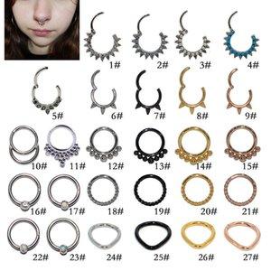 Новые Stifels Steel Aobao Среднее кольцо для воды, бирюзовый инкрустация алмазного носа ногтей, множество видов кольца и серьги