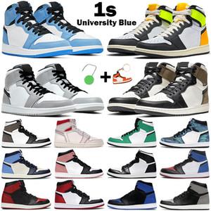 Nuove scarpe da basket da donna da uomo 1s High OG jumpman air jordan 1 University Blue Mid Light Smoke Grey Chicago Dark Mocha Twist Obsidian sneakers da uomo