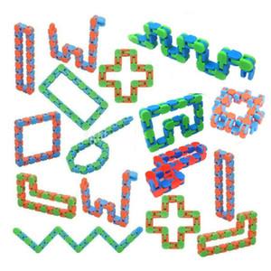 10 шт. Wacky Tracks Snap и нажмите Fidget Toys Snake Puzzles Tangle Fidget Toys для детей для детей Вечеринка ADHD Стресс облегчение