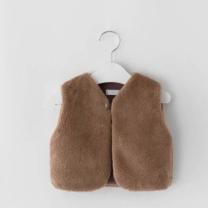 Autumn Winter Fur Girls Waistcoat Baby Coat Kids Warm Vests Infant Outwear Toddler Clothes SM025
