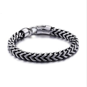 Link, Chain 22cm Punk Vintage Men Bike Link Bracelets Stainless Steel Arrow Shaped Charm Leather Hand Male Jewelry