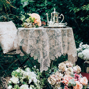 Table Cloth Rural Style Lace Tablecloth Coffee TV Cabinet Furniture Decorative Cover Manteles De Mesa Rectangular