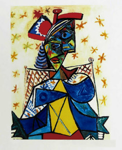 Pablo PICASSO Seated Woman With Red Hat Home Decor Handcrafts  HD Print Oil Painting On Canvas Wall Art Canvas Picture 210222