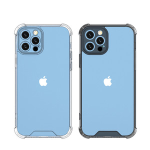 Lens Protection Transparent Clear 1.5MM Acrylic Hard Shockproof Case for iPhone 12 11 Pro XS Max XR X 6 7 8 Plus
