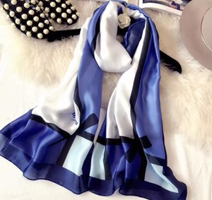 Женщины шелковая ткань шарф шелковистый гладкий печать весенние летние мода дизайн реальный шелковый солнцезащитный крем сексуальный тонкий шаль дорожный шарф оптом