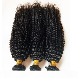 Unprocessed Brazilian virgin human hair cheap factory price kinky curl hair extensions 3 4 5pc lot Natural Color and Black #1 #1b DHgate