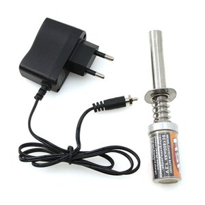 hxlmoto Engine Starter Kit Rechargeable Glow Plug Igniter Ignition SC1800MAh AC Charger EU Plug for RC Cars Nitro Truck Ai for HSP 80101