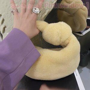 Winter Purse Fluffy Bag Women Designer Clutch Handbag Mini Jodie Shoulder Bags Furry JODIE Winter Fuzzy Designers Wallet Handbags 2109273L