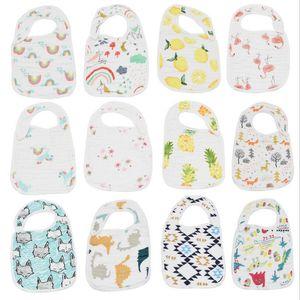 Baby Bibs Handkerchief Saliva Towel Polyester Cotton Newborn Burp Cloths 8 Layers of Cotton Baby Feeding Cloth EWD5294