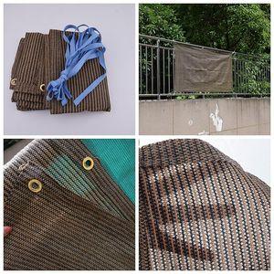 0.9x5m Kaffee Hi-Qualität Anti-UV-Sonnencreme Net Outdoor-Balkon Sicherheitszaun Garten-Patio-Schattierungsnetze dauerhafte Sonnenschatten-Segel