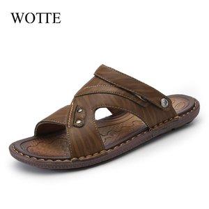 Wotte classics scarpe da uomo pantofole di qualità sandali in pelle divisa di qualità per gli uomini confortevoli infradito da uomo sandali da spiaggia L0227