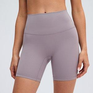 L-09 Shorts de yoga Nake de haute hauteur Nake Sentant No T-Line Elastic Pantalon serré Femme Sports chauds Pantalon chaud Pantalon de yoga Tenues de yoga Sportswear Slim Fit Pantalon de yoga