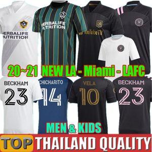 2020 Los Angeles FC Futbol formaları 2021 LAFC Carlos Vela Inter Miami Beckham siyah futbol gömlek seti LA Galaxy Chicharito erkekler çocuklar kiti üniforma