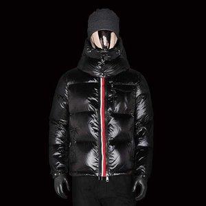 Роскошь 2020 зима новый с длинным рукавом пуховик для мужчин с капюшоном утолщенной лентой пальто для мужской зимой пуховик зимняя JA