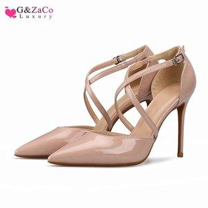 Gzaco Luxury Female bombas Sandalia Sexy Tacones Altos Zapatos de tamaño grande Sandalias Sandalias Verano Sexy Tacón Tacón alto Tacón alto