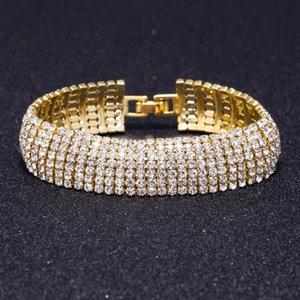 Link, Chain Bracelets Brides Fashion Full Of Claw Bracelet Women's Wedding Dress Shiny Jewelry
