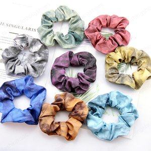 Color Tie Dye Scrunchies Hairband Ponytail Holder Headband Elastic Hair Bands Scrunchy Hair Ties Ropes Scrunchie for Women Girls