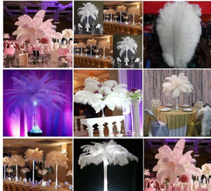 factoryprice new 6-20 inch(15-50cm) white Ostrich Feather plumes for wedding centerpiece wedding party event decor festive decoration z134