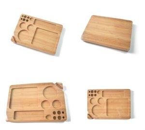 Wood Rolling Filling Tray Papers Back Flip Magnetic Rolling Smoking Tobacco Bamboo Tray Wooden Box Single Layer JXW604
