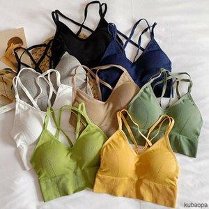 Camisoles & Tanks Wireless Women Bra Seamless Gathered Underwear Beauty Back KU