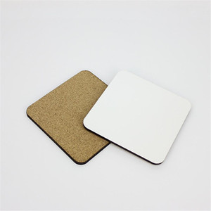 10*10cm Sublimation Coaster Wooden Blank Table Mats MDF Heat Insulation Thermal Transfer Cup Pads for DIY Lover OWB5056