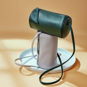 الكراميل لون جلدية حقيبة السيدات أزياء رقيقة الكتف حزام دلو واحد قطري تصميم بوسطن وسادة اسطوانة 1386