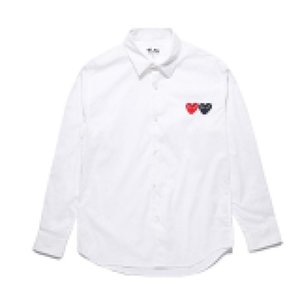 Best Quality Heart Play Uomo Donna Camicia lunga Camicetta Blouse Lattice COM Manica lunga Des Garcons T-shirt