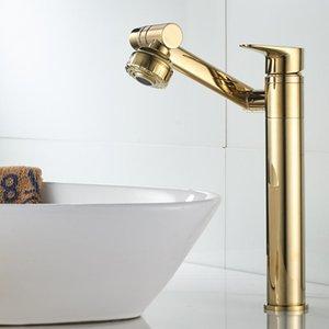 Cobre caliente y fría baño lavabo fregadero grifo oro negro blanco afortunado gato universal giratorio giratorio mezcla grifo de lavabo