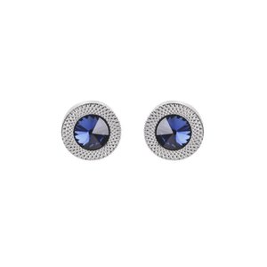 Round blue zircon cufflinks Dress business shirt suit cuff link button for men fashion jewelry will and sandy gift