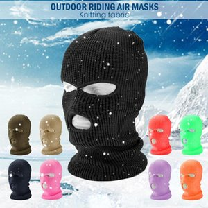 Ski Mask Knitted Face Cover Winter Balaclava Full Face Mask for Winter Outdoor Sports CS Three 3 Hole Balaclava Knit Hat