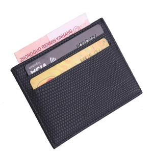 Trassory Lichee Pattern Women's And Men's Slim Leather Business Card Holder Cover With 4 Card Slots And 1 Mon jllaPj