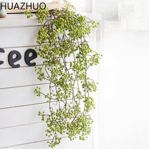 Decorative Flowers & Wreaths 88CM Artificial Red Beans Fruits Vine Fake Rattan For Wedding Party Decor Home Garden Decoration Arcitifial Pla