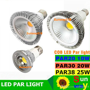 2016 neue COB Dimmable LED Birne Par38 Par30 Par20 85-265V 10W 20W 25W E27 E26 Par Leuchten LED-Beleuchtung Spot Lampe Licht Downlight