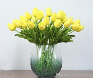 2020 New Latex Tulips Artificial PU Flower bouquet Real touch flowers For Home decoration Wedding Decorative Flowers 6 Colors Option