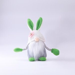 US STOCK Easter Bunny Rabbit Gnome Faceless Bunny Dwarf Doll Easter Plush Rabbit Dwarf Holiday Party Table Decoration Home Accessories