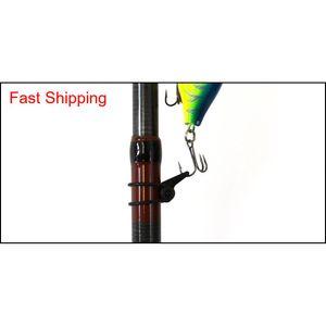 Multiple Color Plastic Fishing Rod Pole Hook Keeper Lure Spoon Bait Treble Holder Small Fishing Acces XKl abc2007