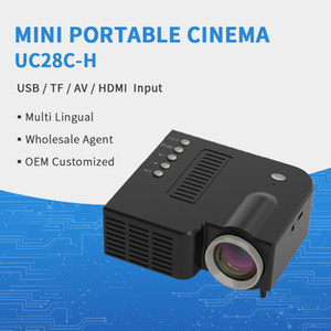 UC28C-H LED Mini Projector Proyector Portátil Pequeño Proyector Supports 1080P Hirving Home Media Video Player Family Pocket Projectors Beamer