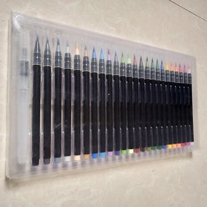 24 suluboya kafa yaratıcı hat kalem çizgi renk fırçası karikatür el yumuşak çizim