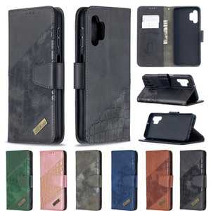 Crocodile Leather Wallet Case For Samsung A72 A52 A02S A32 A42 A12 S21 Ultra ID Credit Card Slot Hybrid Coro Snake Holder Flip Cover Pouch