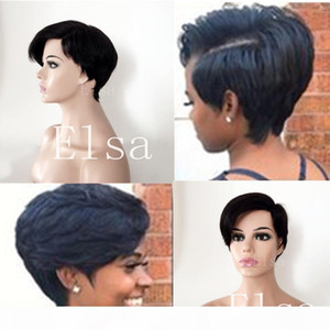 Brazilian Virgin Human Hair Side part little Lace Front Wigs Glueless Short Bob Human Hair Wigs With Baby Hair For Black Women