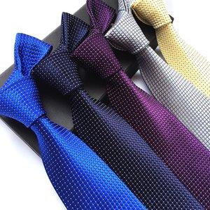 8cm polyester men's tie casual plain